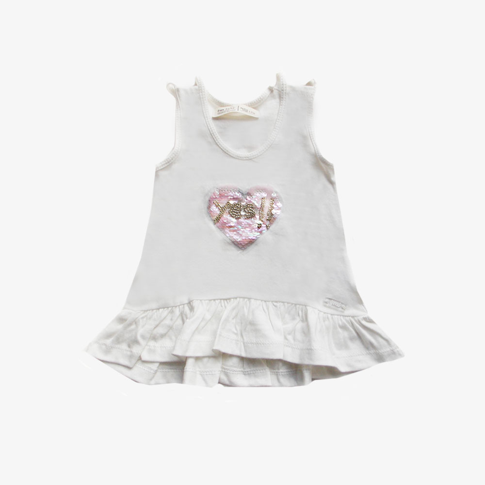 "Musculosa mi ""Corazon Yes"" - Crudo -"