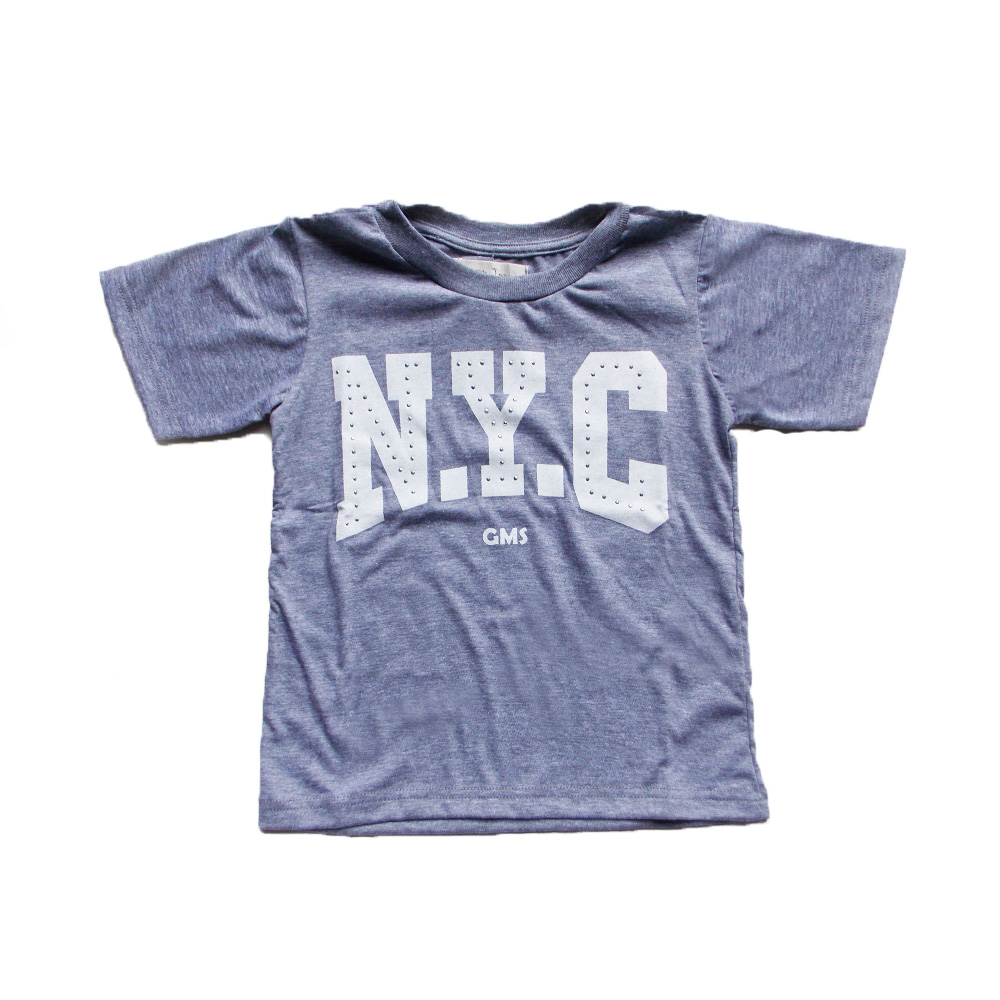 "Remera ""NYC"" tachas -Gris-"