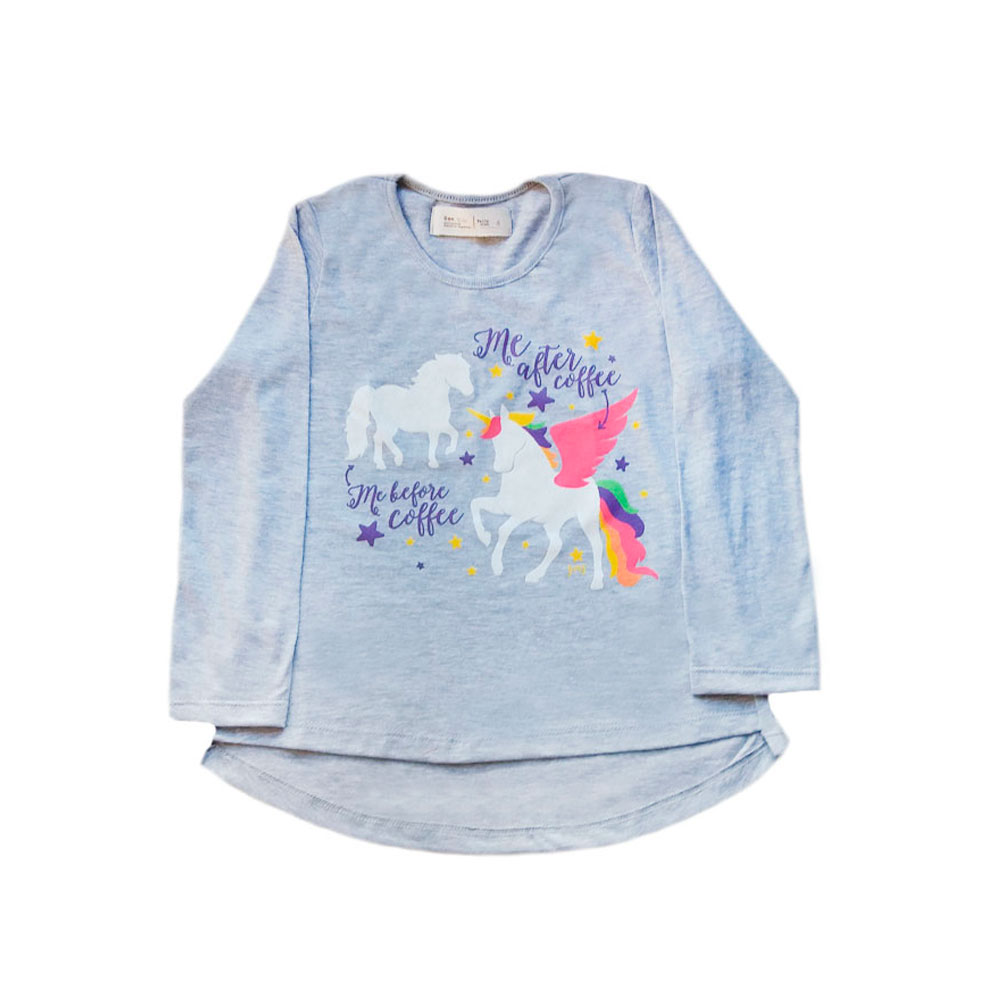 Remera Adelina Unicorn Coffee