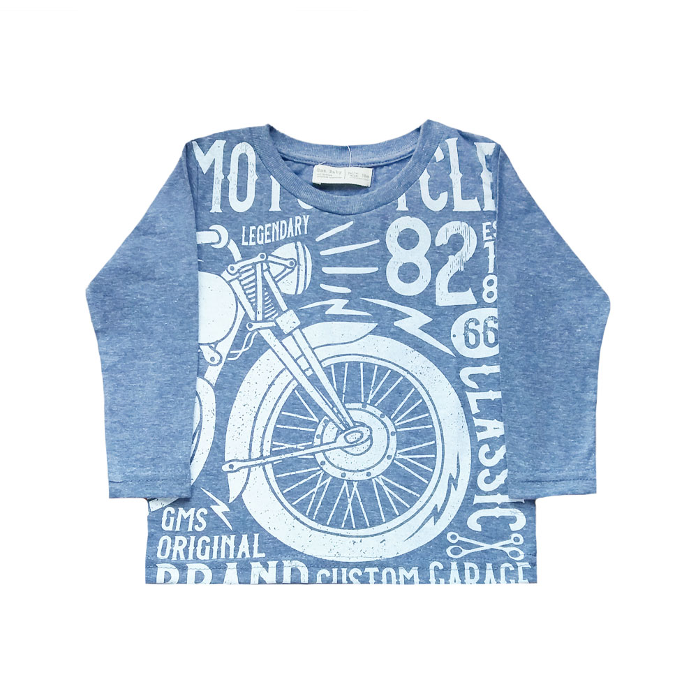 Remera Motocycle azul