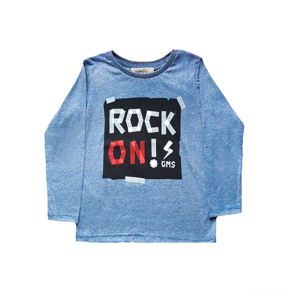 "Remera ""Rock On"" -azul-"