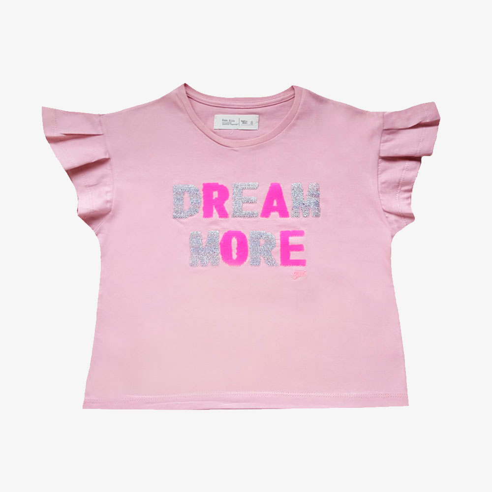 "Remera ""Dream More"" -rosa-"