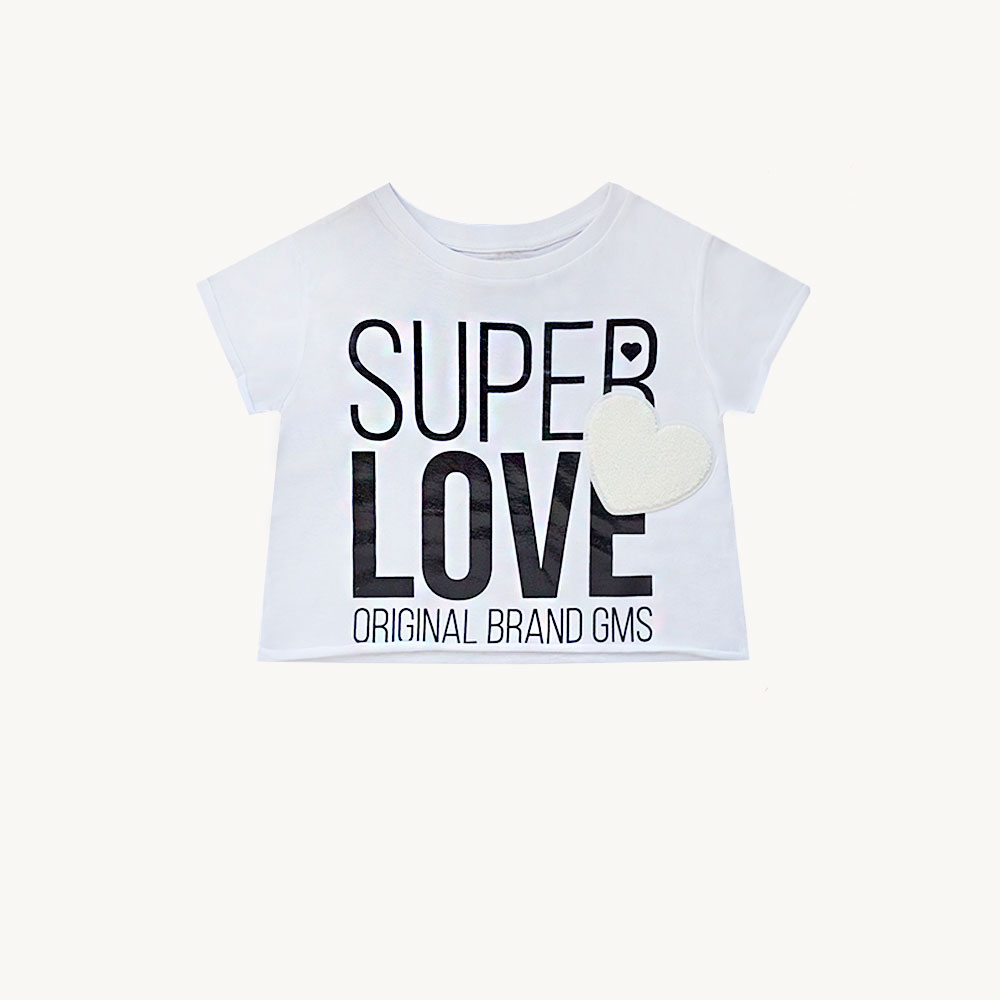 "Remera ""Super Love"" -blanca-"