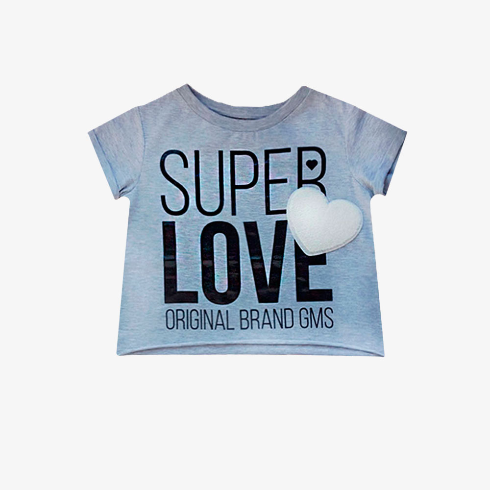 "Remera ""Super Love"" - Gris -"