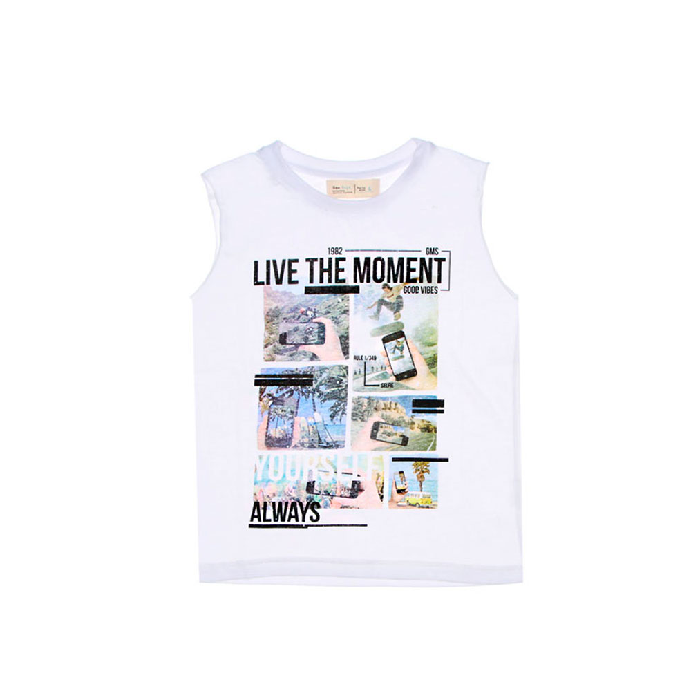 "Musculosa ""Live the moment"" - Blanca -"