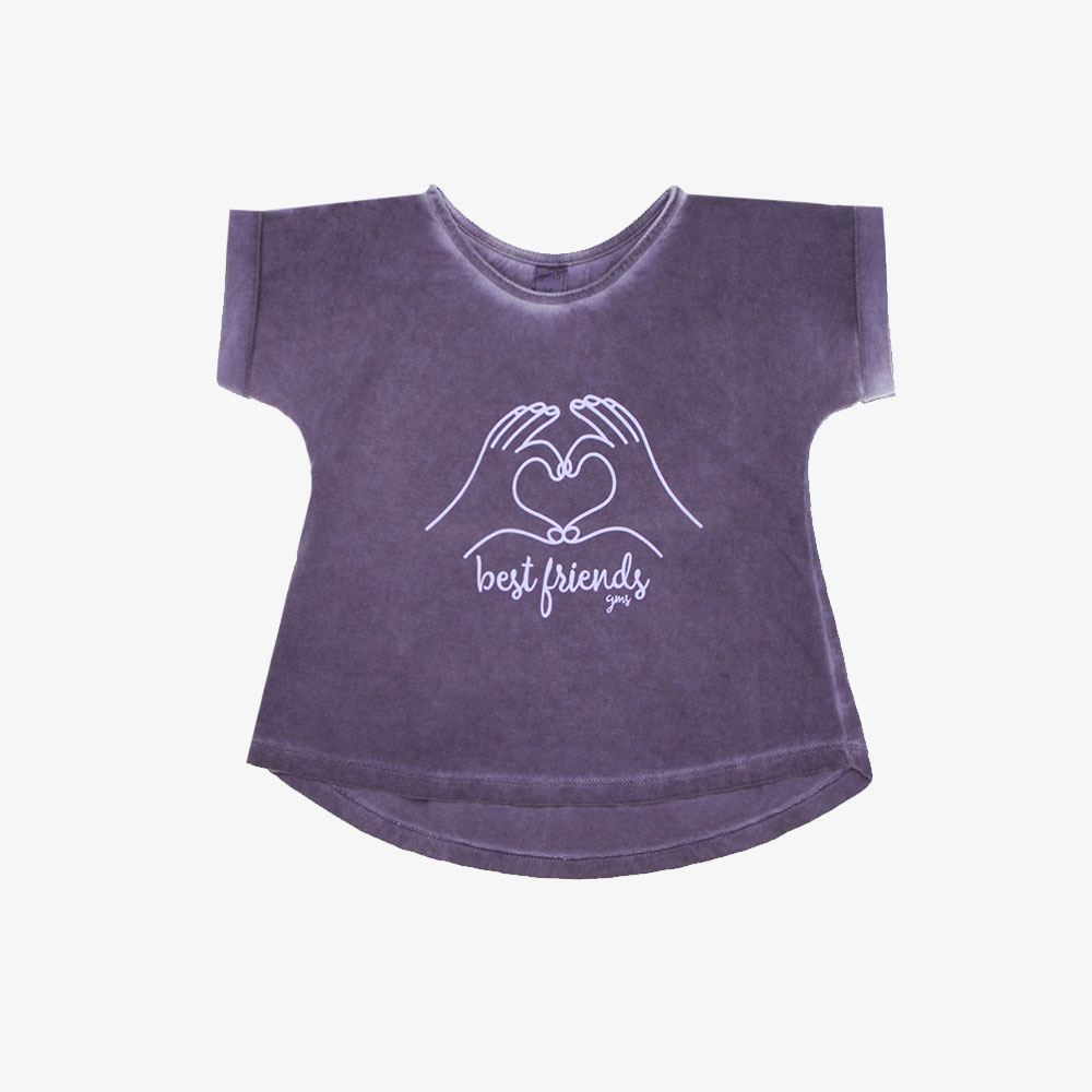 "Remera mini ""Best Friend"" - Lila-"