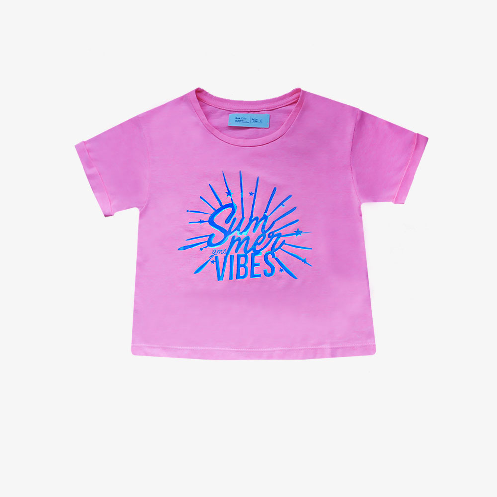 "Remera ""Summer Vibes"" -Fucsia -"