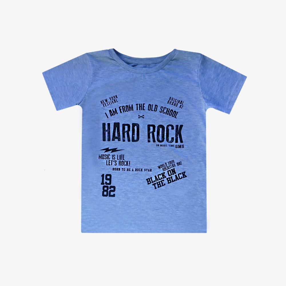 "Remera Clásica ""Hard Rock"" - Gris -"