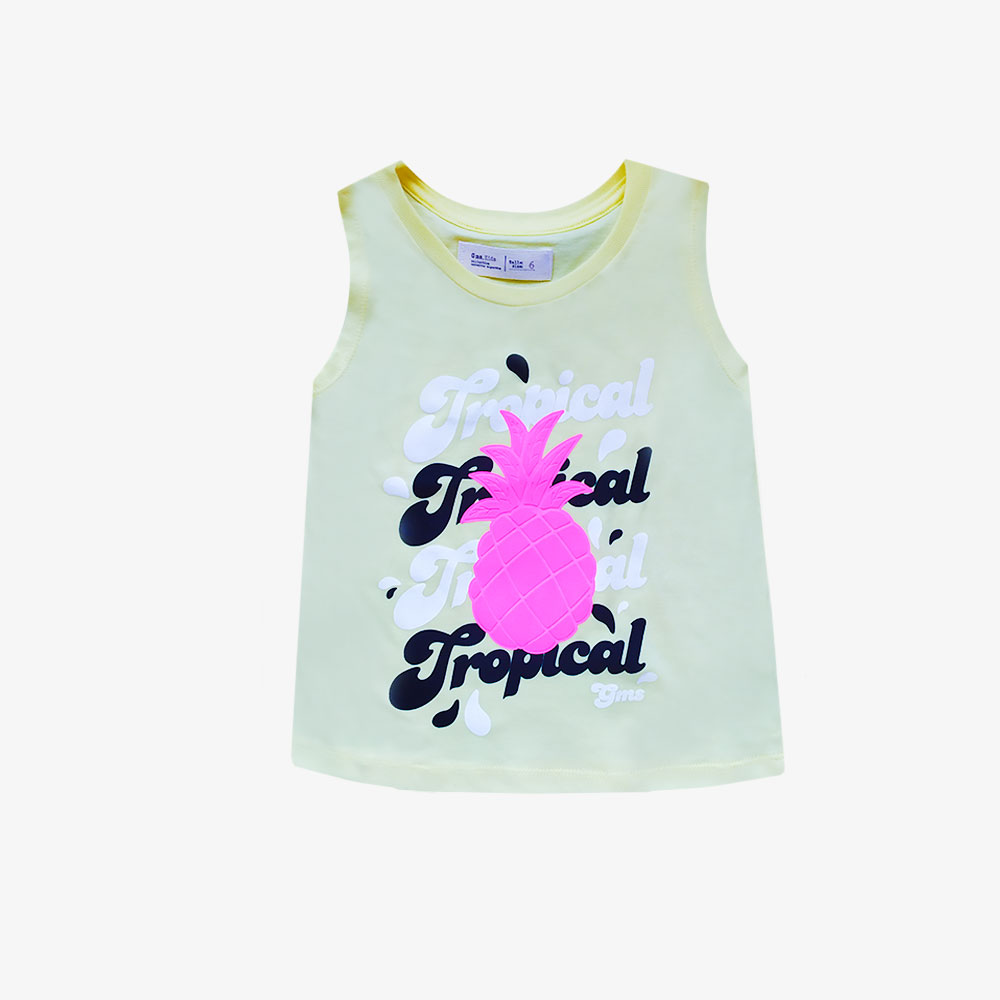 "Musculosa ""Tropical"" -Amarillo Patito -"