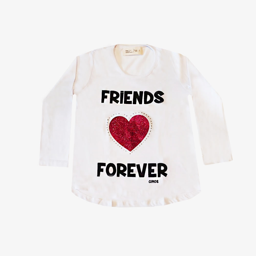 "Remera  ""Friends"" - Blanca -"