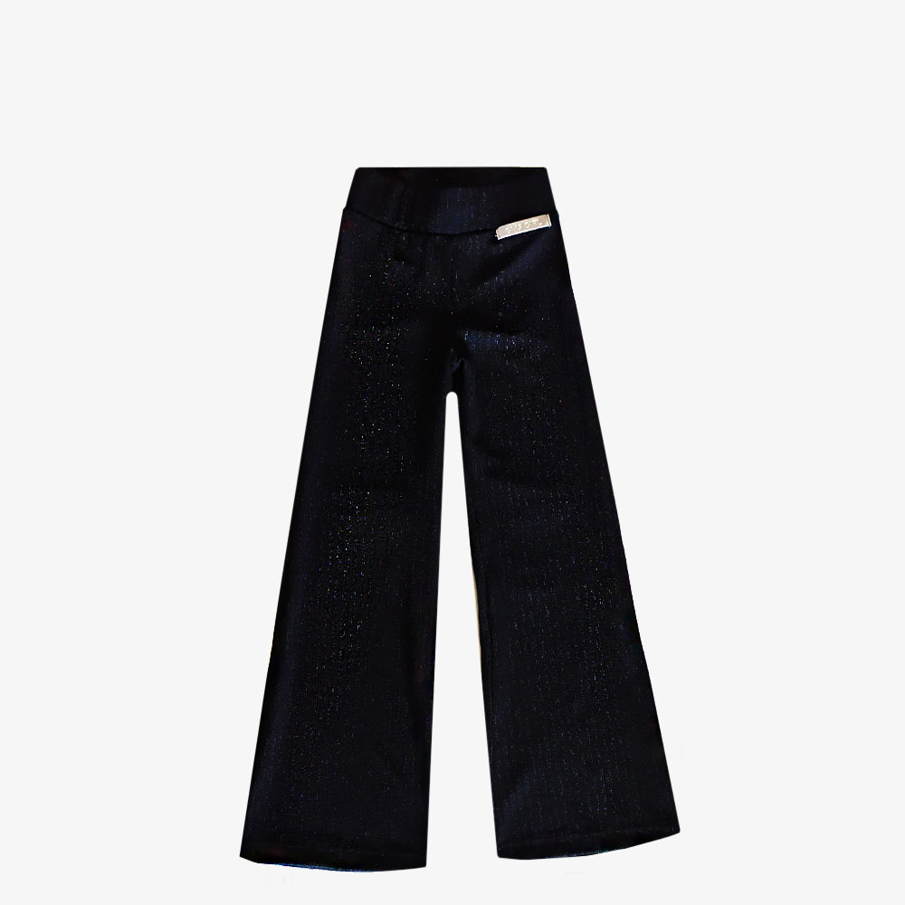 Pantalon Oxford brilloso - Negro -