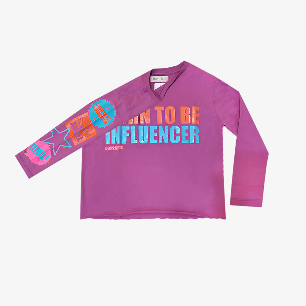 "Remera ""Be Influencer"" - Lila o Naranja -"