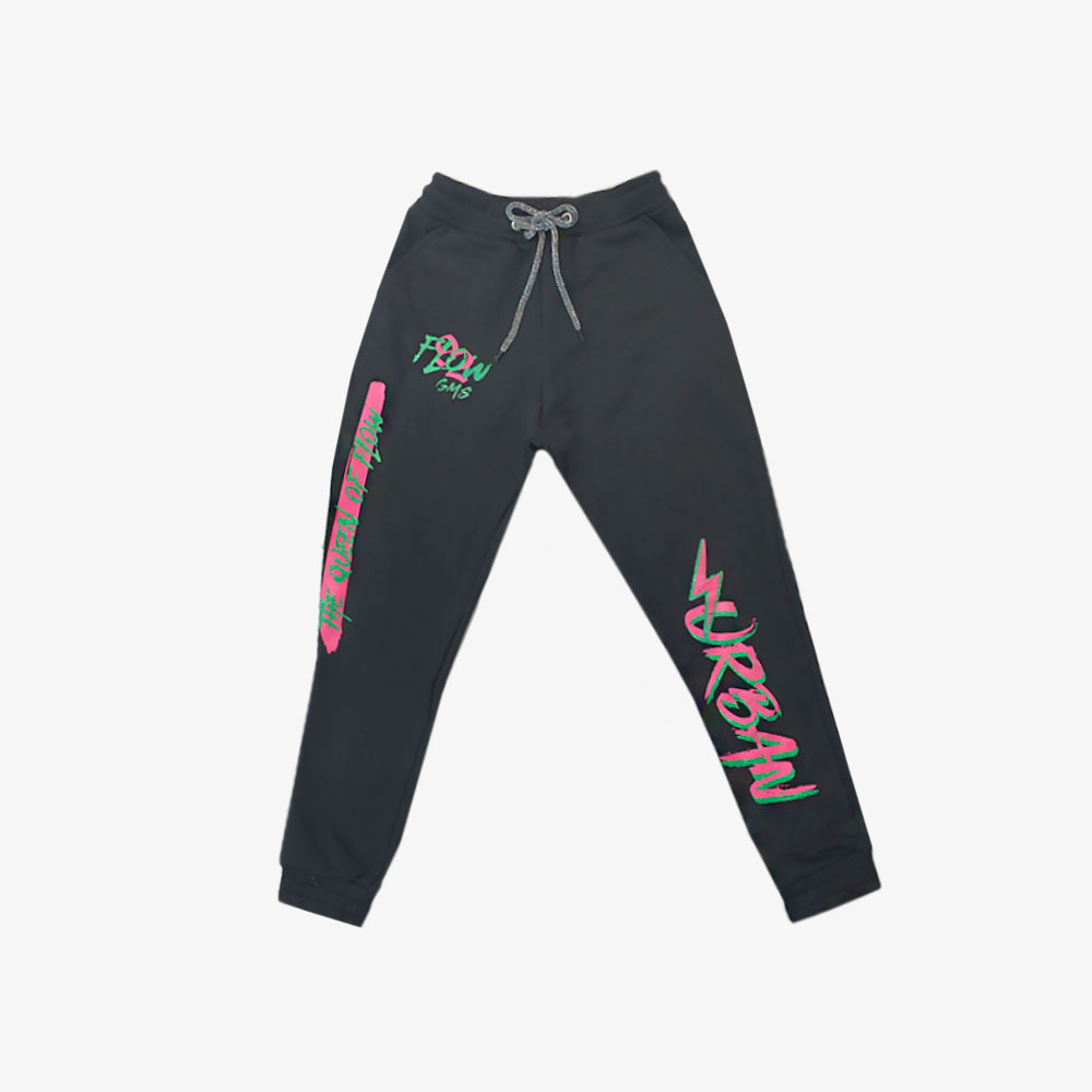 "Jogging estampado ""Urban Flow"" - Negro, lila o blanco-"
