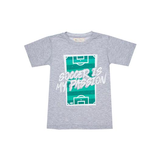 "Remera ""Soccer"" - Gris -"