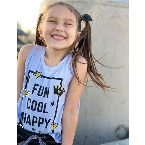 "Musculosa ""Fun Cool Happy"" - Lavanda -"