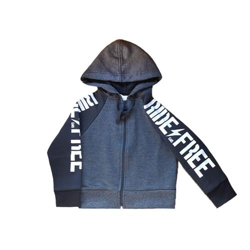 "Campera Frisa ""Ride Fire"" -gris-"