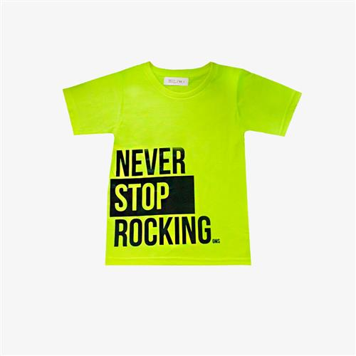 Remera Never Stop -amarillo-