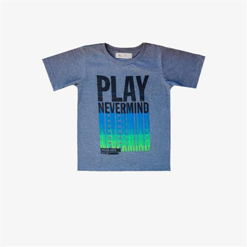 Remera Play never Mind -gris-