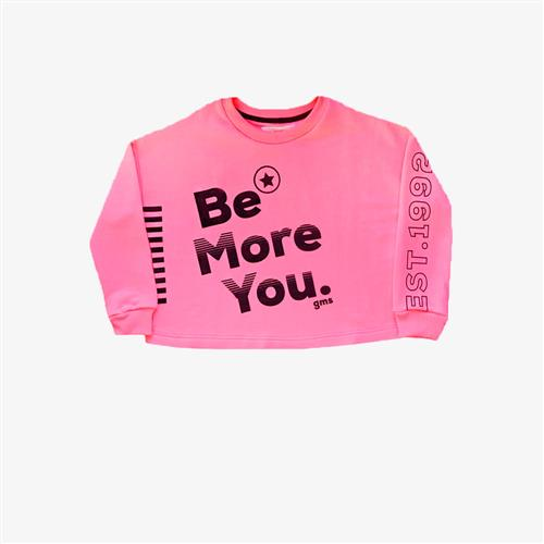 "Buzo rustico ""Be more you"" -fucsia-"