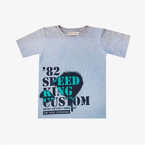 "Remera Clásica ""Speed King"" - Gris -"
