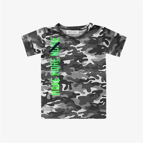 "Remera Camuflada ""Make More Noise"" - Verde militar -"