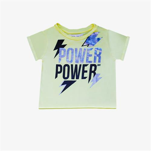 "Remera ""Power"" - Amarillo patito-"