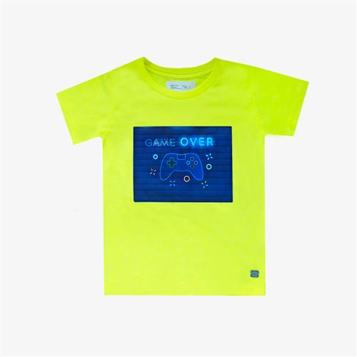 "Remera ""Game Over"" - Amarillo Fluo -"