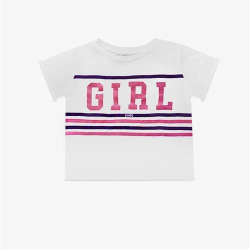 "Remera ""Fierce Girl"" - Blanca -"