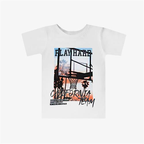 "Remera Clásica ""Play Hard"" - Blanca -"
