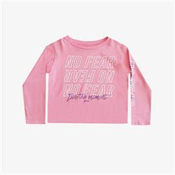 "Remera ""No Fear"" pupera - Lila/Rosa -"