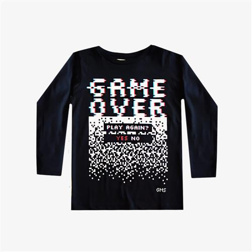 "Remera ""Game Over"" - Negra -"