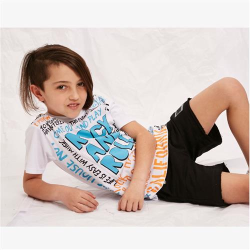 "Remera ""Rock and Roll"" - Blanca -"