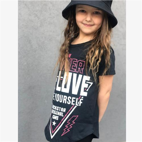 "Remera ""Off Love"" - Gris y Negra -"