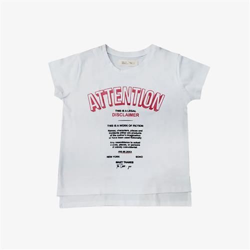 "Remera ""Attention"" - Blanca -"