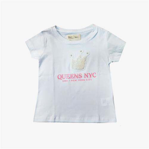 "Remera mini ""Queens"" cracovia - Negra y blanca -"