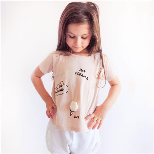 "Remera ""Ice Cream"" - Rosa -"