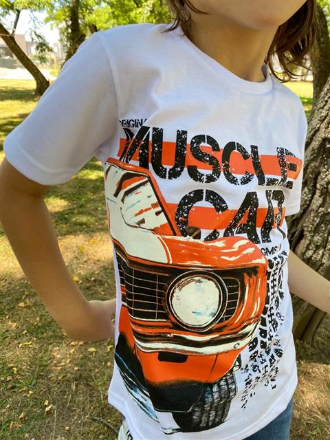 "Remera ""Salta"" Muscle Car - Azul y blanca -"