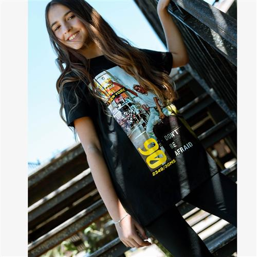 "Remera "" New York girl"" - Negra o amarilla -"