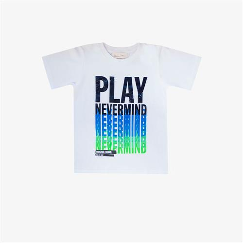 Remera Play never Mind -blanca-